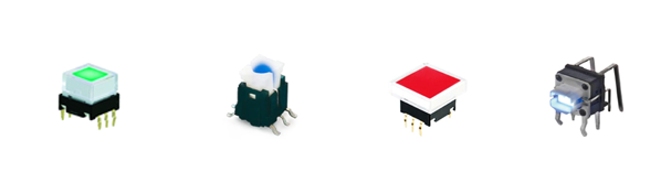 LED Illuminated tact switches, tactile button, rjs electronics ltd