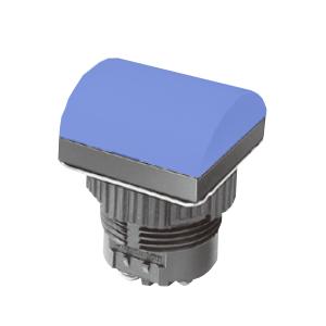 ML - Domed Square Type - Blue -LED Indicator Panel - RJS Electronics Ltd.