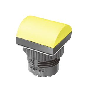 ML - Domed Square Type - Yellow -LED Indicator Panel - RJS Electronics Ltd.