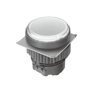 ML - Flat Round Type - White -LED Indicator Panel Single LED illumination, Bi-colour LED Illumination, RGB Illumination, ring LED illumination, dot illumination, full illumination, split face illumination, dual illumination, RJS Electronics Ltd.