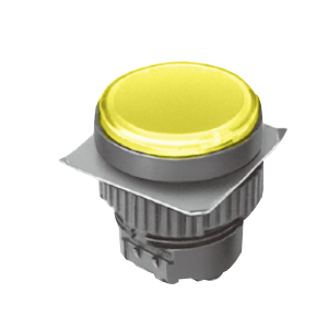 ML - Flat Round Type - Yellow - LED Indicator Panel - RJS Electronics Ltd.