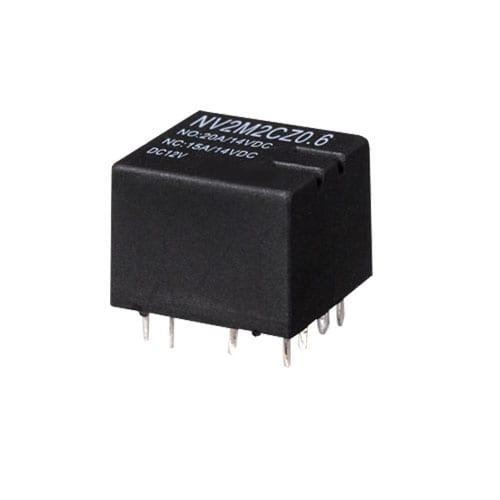 NV2M, PCB, Relay, Automotive relay, rjs electronics ltd