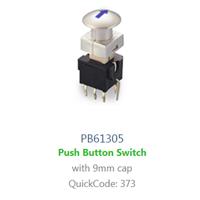 PCB, Panel Mount, PB61305 SWITCH with LED illumination, Single colour, BI-COLOUR, RGB LED ILLUMINATION, - RJS ELECTRONICS LTD