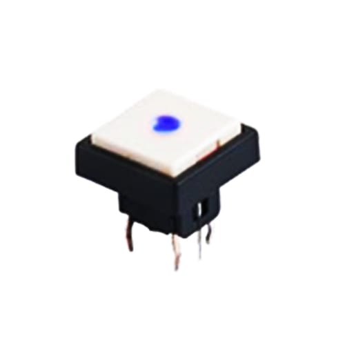PCB, push button switch, without LED illumination, switch with LED illumination, single LED illumination, bi-colour LED illumination, custom etching custom. Momentary function switch with Plastic housing. RJS Electronics Ltd.