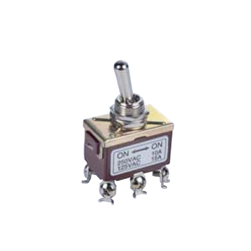 PCB- Toggle Switches- LPO SERIES - DPDT- PCB, Panel mount, Toggle Switches, IP rated, without LED illumination, guards and accessories available. Miniature toggle switch, sealed waterproof toggle switch, sub-miniature toggle switches, ultraminiature toggle switches. RJS Electronics Ltd.