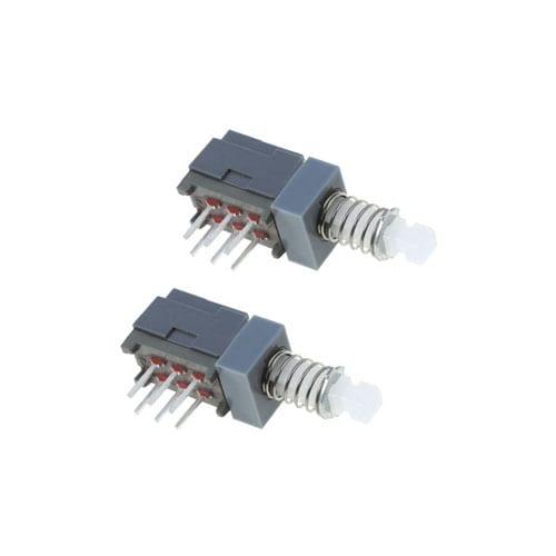 pcb push button switch, SPUJ switch, 2 pole, rjs electronics ltd