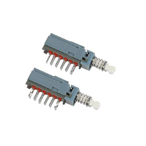pcb push button switch, SPUJ switch, 4 pole, rjs electronics ltd