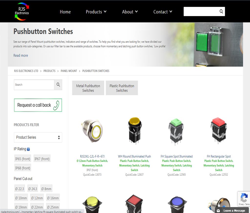 PSH Button RJS Electronics Ltd