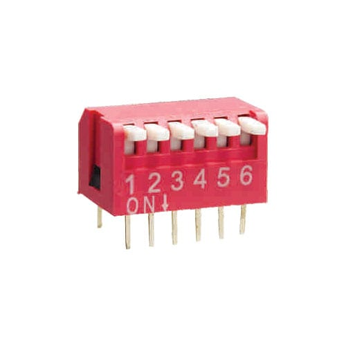 Piano type dip switch, rjs electronics ltd