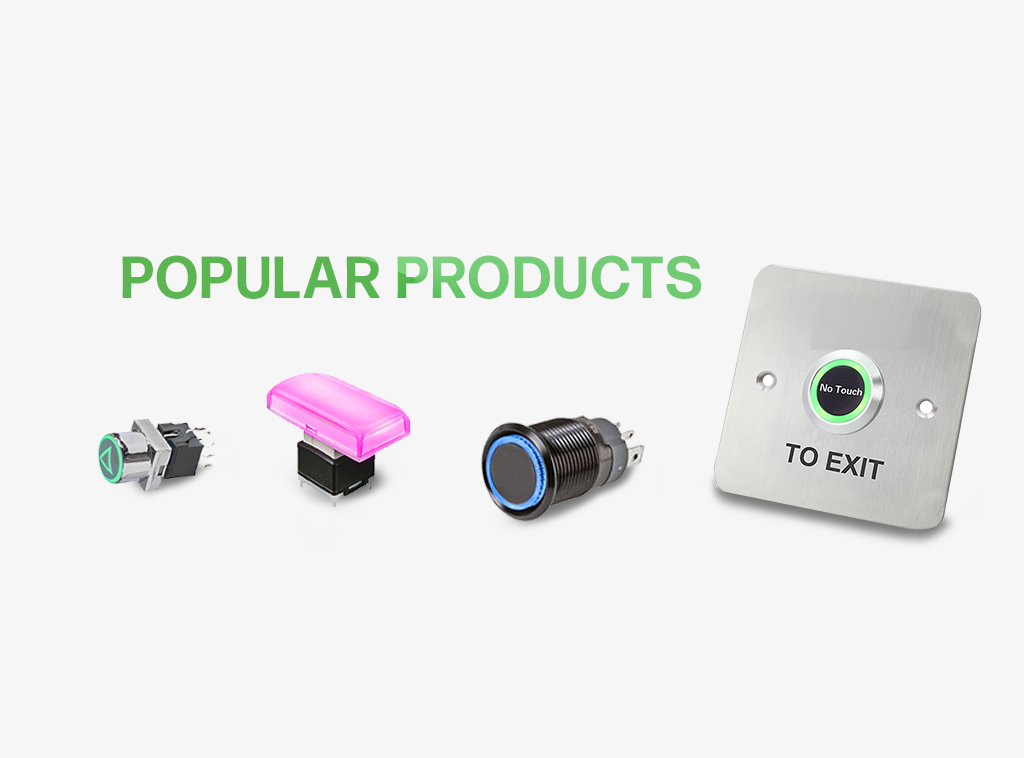 Popular products, push button switch, led illumination, rjs electronics ltd