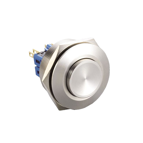 metal anti vandal push button switch with no led illumination available at rjs electronics ltd