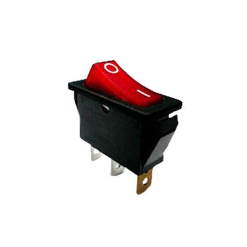 R4 Rocker Switches _ Red, LED illuminaiton, available without LED illumination or custom etching. RJS Electronics Ltd.