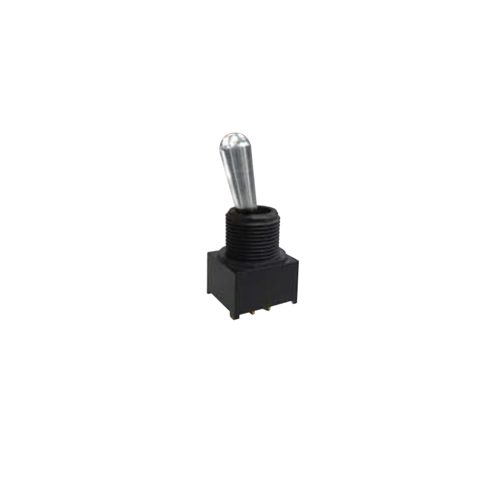 Toggle & Rocker Switch, RJS-1A-M1, Black/Grey, PCB, Panel mount, Toggle Switches, IP rated, without LED illumination, guards and accessories available. Miniature toggle switch, sealed waterproof toggle switch, sub-miniature toggle switches, ultraminiature toggle switches. Horizontal, right angle, vertical toggle switch. RJS Electronics Ltd.