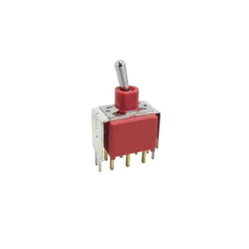 PCB, RJS, Toggle & Rocker Switch, RJS-1A-VS2-VS3-DPDT, plastic, metal, toggle switch, DPDT, RJS Electronics Ltd.