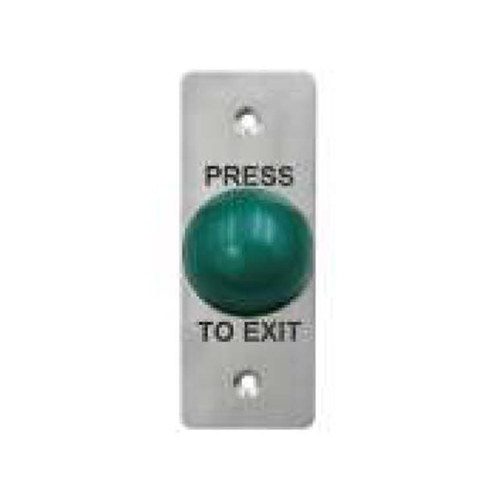 Door exit switch, push button switch, non-illuminated switch, button colour green, 19mm installation, contact ratings available. RJS Electronics Ltd