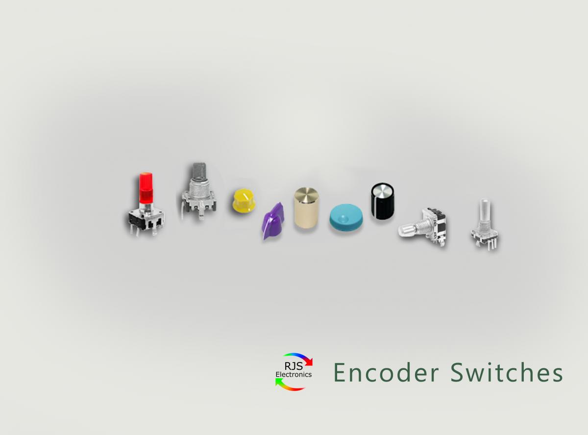 RJS Electronics Ltd - Encoder Switches, with LED illumination and custom etching. See for full range. www.rjselectronics.com