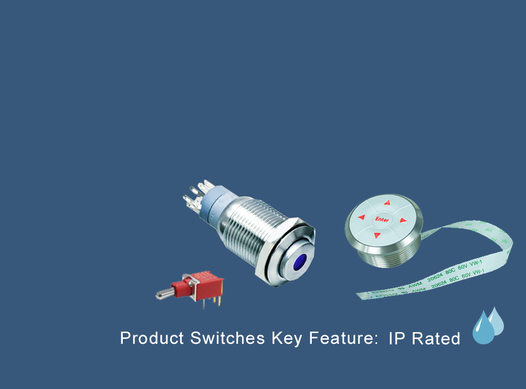 RJS Electronics Ltd highlights and explains the key feature IP Rating, IP65, IP67, IP68 front and rear. See our range of IP rated series and products!