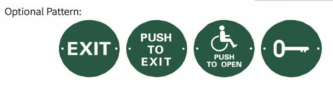 RJS-EX1, door exit and push button switches, green, non-illuminated push button switches, available in 4 pre-set designs. RJS Electronics Ltd