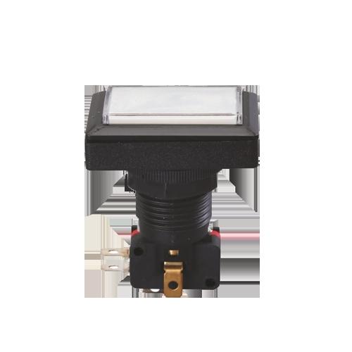 led illuminated push button switch, gaming button, plastic, momentary, rjs electronics ltd