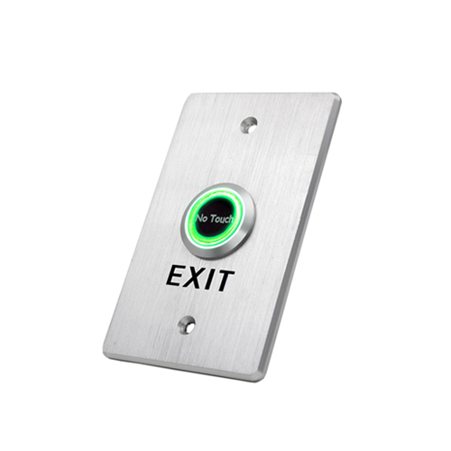 Infrared switch, proximity switch, touchless exit switch with dual colour led illumination, green LED illumination and blue LED illumination, RJS Electronics Ltd.