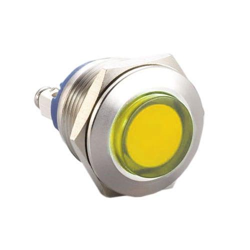 624. Panel Mount, metal, LED Indicator, single LED colour, dual colour LED colour, RGB LED Colour, no function, full illumination, dot illumination, RJS Electronics Ltd