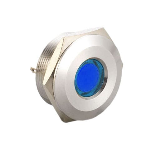 Panel Mount, metal, LED Indicator, single LED colour, dual colour LED colour, RGB LED Colour, no function, full illumination, dot illumination, RJS Electronics Ltd