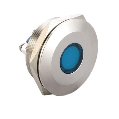 RJS01-30I-170A~67J, Panel Mount, LED indicator, 6mm/8mm/12mm/16mm/19mm/22mm/25mm/28mm/30mm indicators, with single, dual, RGB, Full LED illumination, with screw/PCB type/ solder lug terminals. IP67/IP68 Rated. RJS Electronics Ltd