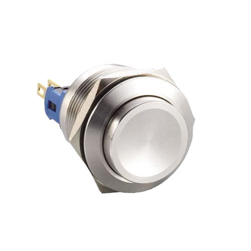 22mm metal anti vandal push button switch, high head with no illumination - rjs electronics ltd