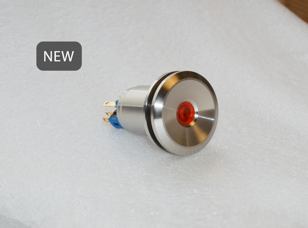 RJS103-22L-MD-Panel Mount, Push Button Switch with LED illumination. Dot Illumination_ RJS ELECTRONICS LTD.
