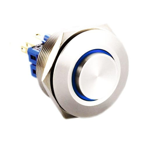 RJS(12)03-28L(A)-H-R-(LED)-(BSBLK)-(XV)-67J_BLUE, 28mm push button switch