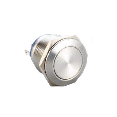 push button switch, panel mount, RJS Electronics, rjs1n1-19mm, switch without led illumination, 19mm. RJS Electronics Ltd.