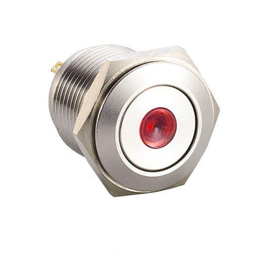 RJS1N1-19L-F-D-(R)-(BSBLK)-(XV)-67J push button metal switch red dot illumination