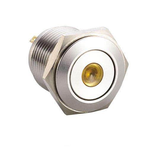 RJS1N1-19L-F-D-(y)-(BSBLK)-(XV)-67Jgreen flat head dot illumination push button metal switch