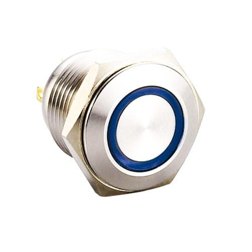 RJS1N1-19L-F-R~67J, 19mm push button metal switch