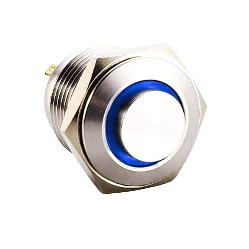 RJS1N1-19L-H-R~67J, 19mm push button metal switch.