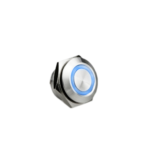 12mm metal anti vandal push button switch with led illumination,antivandal, metal push button switch, panel mount, LED illumination, non- illumination, RJS Electronics Ltd, push button switch, Single LED illumination, Bi-colour LED Illumination, RGB Illumination, ring LED illumination, dot illumination, dual illumination, power symbol, custom options available RJS Electronics Ltd.