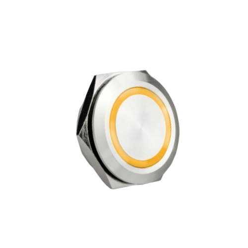 low profile metal push button switch with led illuminatio available at rjs electronics ltd