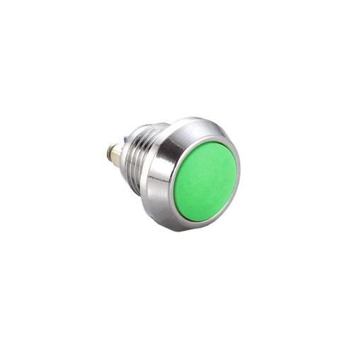 12mm push button switch without LED Illumination, Anti-vandal, Push button metal switches, flat head. RJS Electronics Ltd.