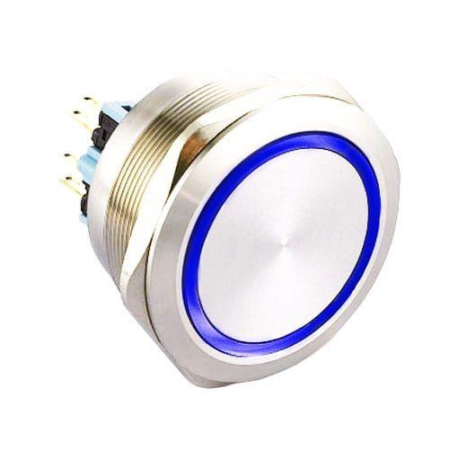 RJS(234)03-40L(A)-F-R-(BLUE)-(BSBLK)-(XV)-67J, 40mm push button switches