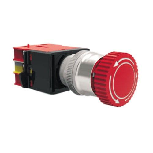 RJSMS22E Mushroom Emergency Light, panel mount, custom symbol, led illumination, RJS Electronics Ltd.