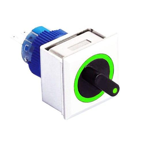 Square selector switch with LD illuminaiton and custom illumination RJS Electronics Ltd