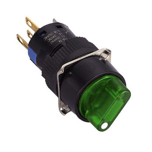 Round Illuminated Selector Switch with Full LED single Illumination