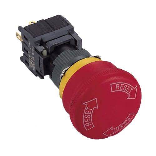 RJSPS16B Emergency Stop 3, panel mount, emergency stop, symbol, RJS Electronics Ltd.
