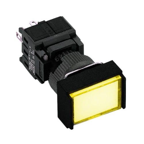 rectangular push button switch with full LED illumination
