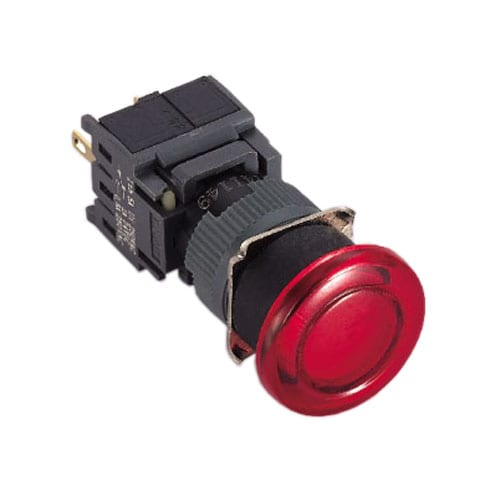16mm, round Plastic LED indicator switches. Mushroom head LED indicator, Plastic housing and LED indicator available in single LED illumination. Red, Green, Blue, Orange, White, Yellow, SPDT and Voltages. RJS Electronics Ltd