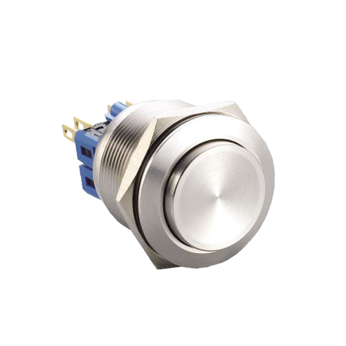 25mm high head metal push button switch with no illumination available at rjs elecronics ltd