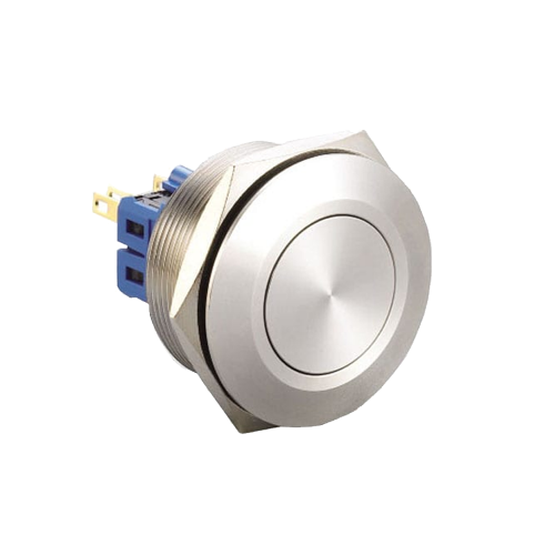 30mm metal anti vandal push button switch with no led illumination available at rjs electronics ltd