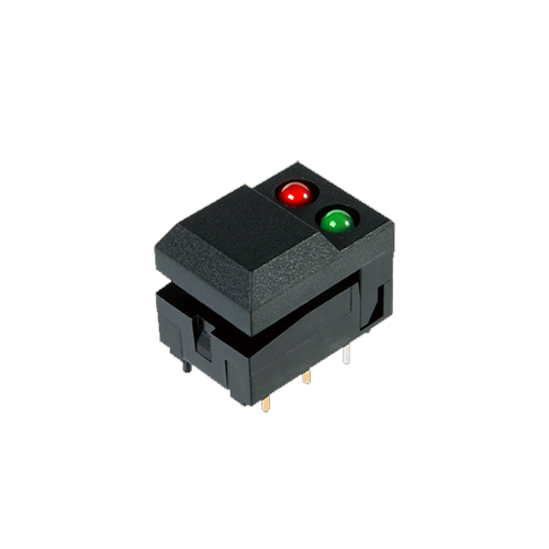 SP86 push button switch, led illumination, pcb mount, piano rocker switch, rjs electronics ltd.
