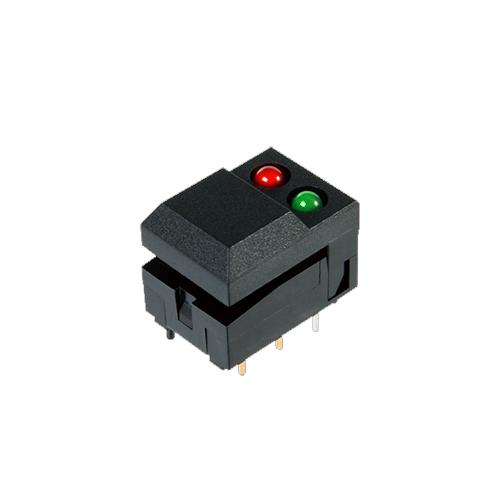 SP86 push button switch, led illumination, pcb mount, piano rocker switch, rjs electronics ltd.