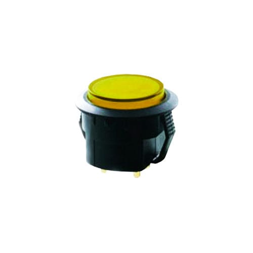 RGB illuminated push button switch, pcb mount, spc range, rjs electronics ltd